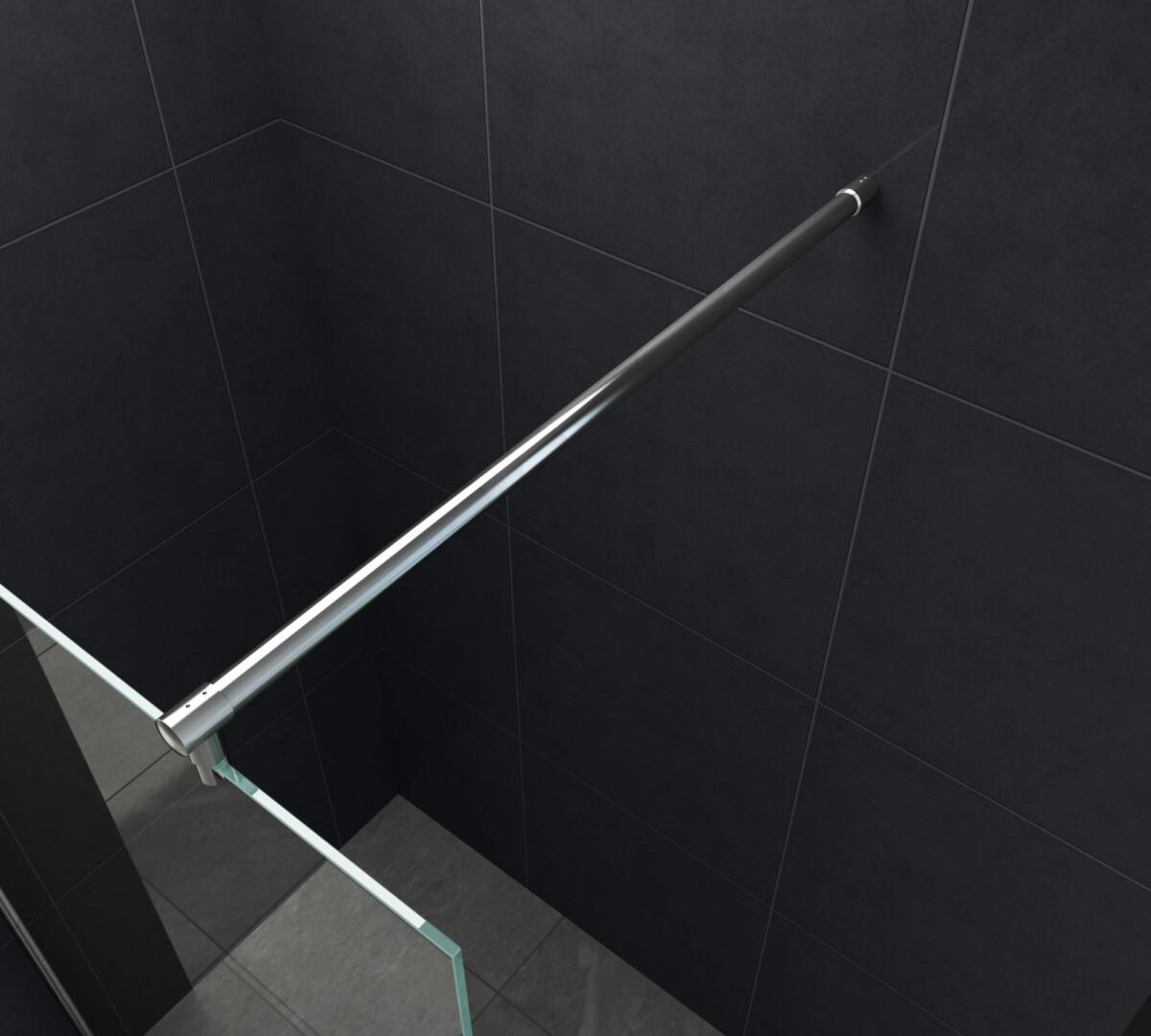 Stabilisatie stang voor een glaswand