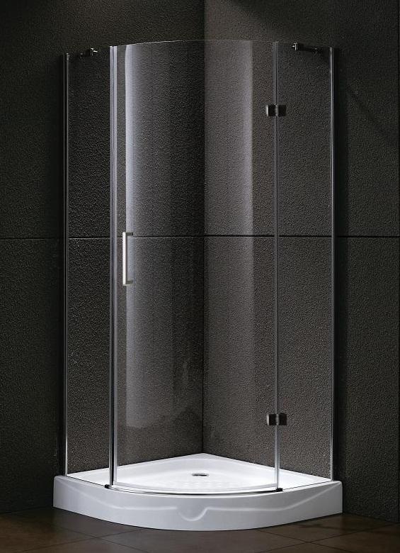 Kwartronde douchecabine met één draaideur