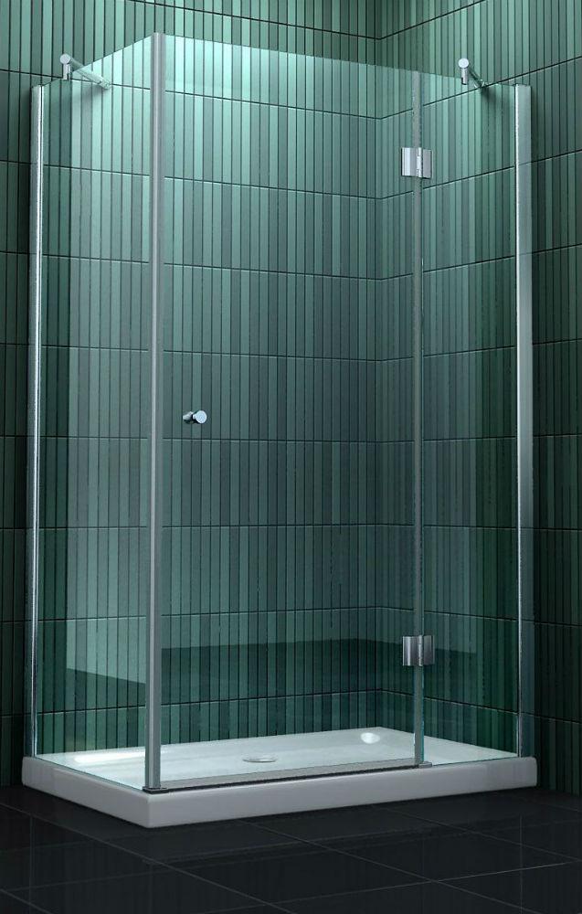 Vierkante douchecabine met draaideur