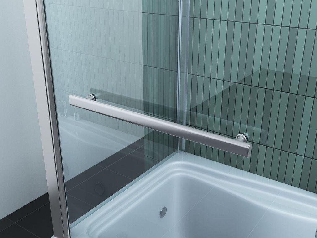 Badwand 80 cm met vaste zijwand