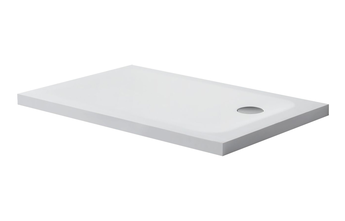 Solid surface douchebak rechthoek model