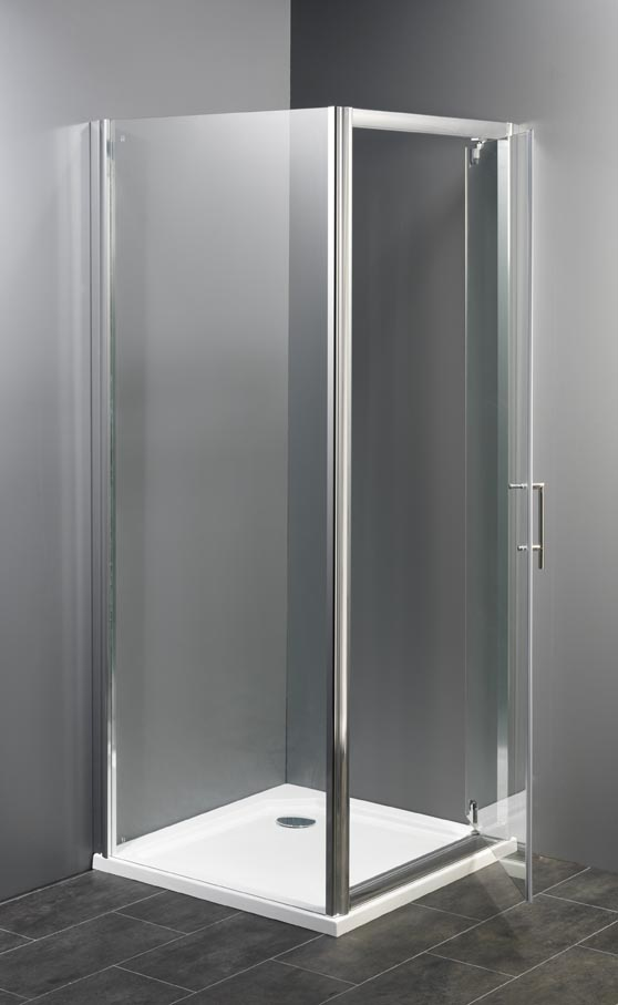 Douchedeur met zijwanden