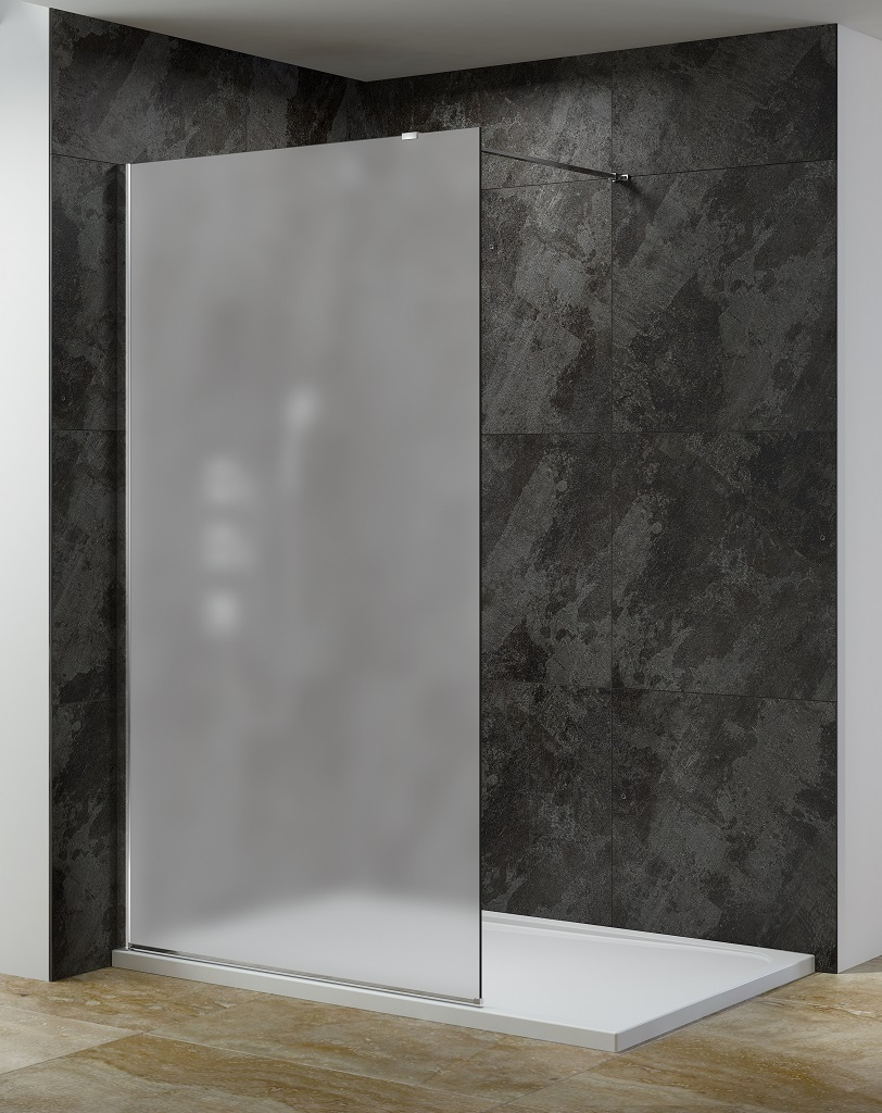 Douchecabine Mat Glas.10 Mm Inloopdouches In Matglas Breedte 90 120 140 Cm