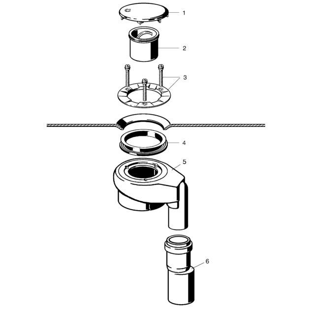 Onderdelen viega sifon met onder uitloop