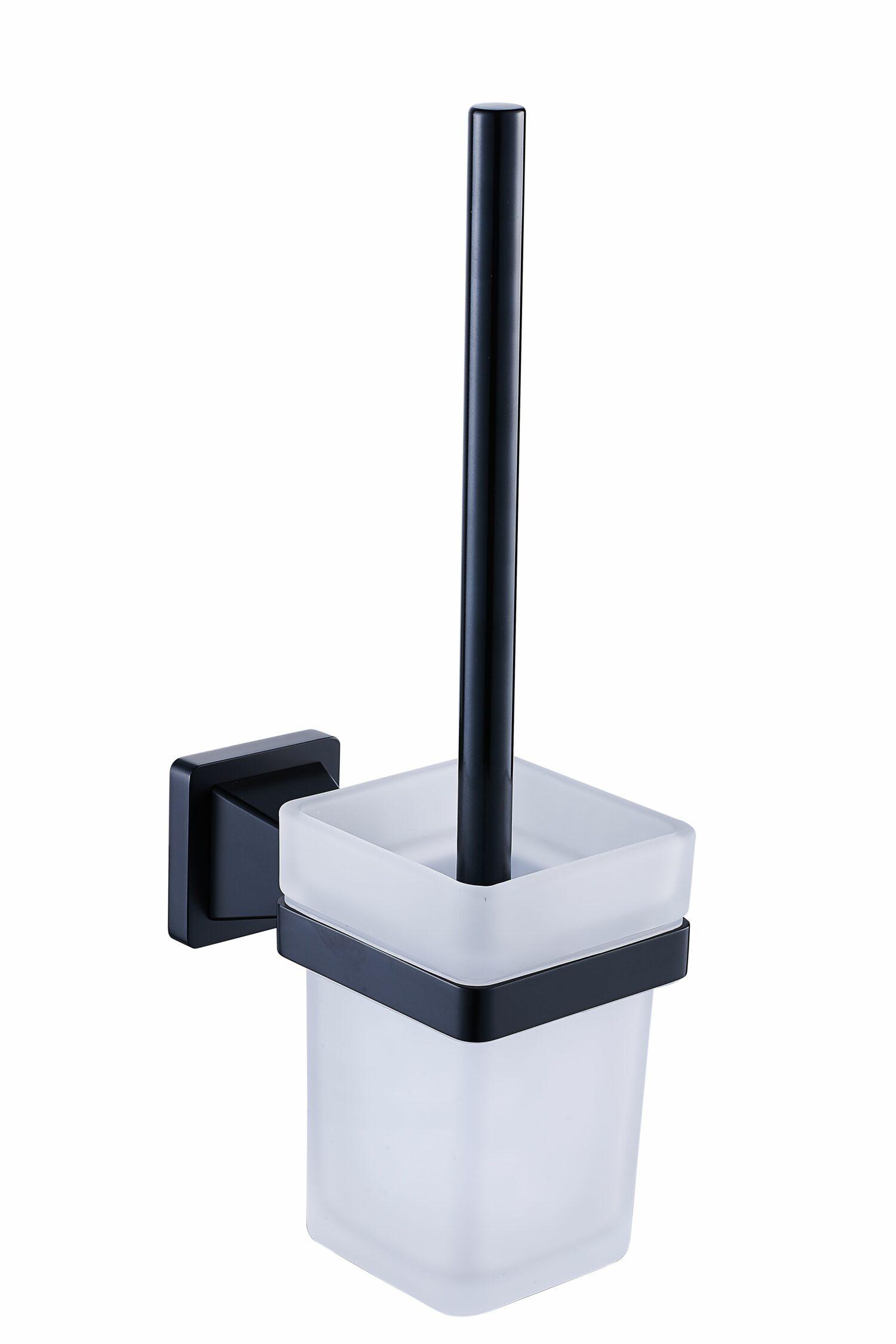 Toiletborstel houder matzwart